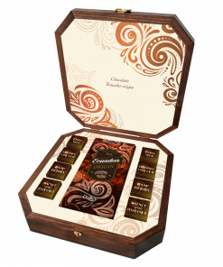 Premium Box Tablete chocolate negro 70%+ 8 Bombons de chocolate